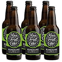 Kunekune 酷里酷尼 猕猴桃苹果酒 Kiwifruit Cider 6瓶X330毫升 4.5% VOL 新西兰进口苹果酒