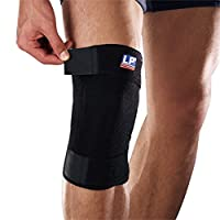 LP 美国欧比护具 护膝 756-01 包覆调整型膝部束套 膝部拉伤扭伤 黑色
