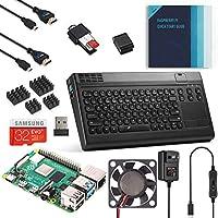 Vilros Raspberry Pi 4 全套桌面套件,带键盘和触摸板集线器 4GB