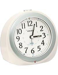 SEIKO CLOCK 标准自动照明电波闹钟 白 KR331W