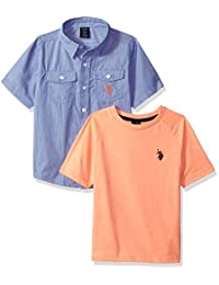 U.S. Polo Assn. 男童短袖针织 T 恤套装