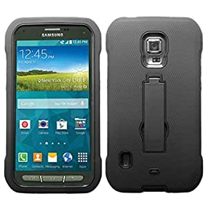 MyBat Symbiosis Stand Protector Cover for SAMSUNG Galaxy S5 Active - Retail Packaging - Black