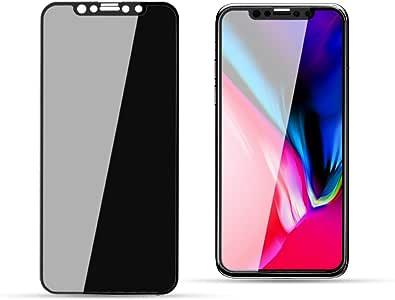 Pueryin 3D iPhone X/XS 屏幕保护膜隐私反间谍钢化玻璃屏幕保护膜 9H 硬度iPhone X/XS iPhone X-p