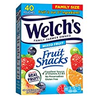 Welch's 水果零食,漿果和櫻桃 0.9 Ounce (Pack of 40)