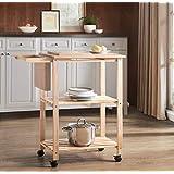 2L Lifestyle Costal 木制厨房车,小号,自然色