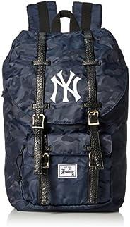 MLB 美国职业棒球联盟 背包 翻盖双肩包 日用背包 帆布背包 洋基队 女士 男士 大容量 YK-MBBK46