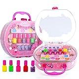 儿童彩妆玩具 化妆品玩具 手提包收纳包 公主舞台表演玩具 多样多色指甲油彩妆盒 梦幻化妆手提盒