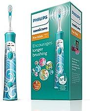 Philips 飞利浦 Sonicare 儿童电动牙刷,带有1个刷头,2种模式,8个可自定义的贴纸—HX6311 / 17