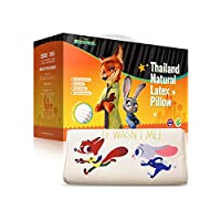 年末钜惠 直降到手价219元 TAIPATEX 泰国原装进口 迪士尼正版授权疯狂动物城系列 儿童睡枕 学生枕 婴儿枕(黄色 适用5-12岁) 51×26×7/8cm(1216价格到期 售完即止)
