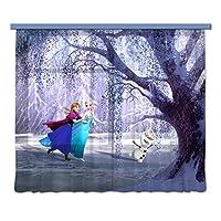 Disney AG 设计窗帘冰雪奇缘 - 儿童窗帘 - 3D 照片印刷 - 280 x 245 cm/ 110,2 x 96,5 英寸 - 2 部分 - FCSXXL 7006