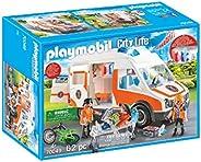 Playmobil City Life 70049 救生车 带灯光和声音 4 岁以上