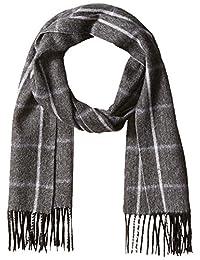 Phenix 菲尼克斯 男士羊绒围巾,人字纹方格条纹