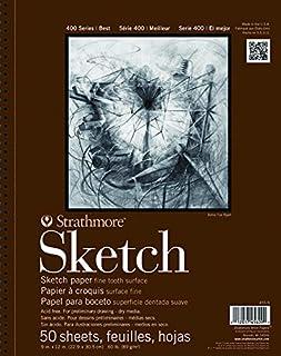 Strathmore 455-11 400 系列素描垫,27.94cm x 35.56cm 线装订,50 张
