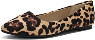 MAIERNISI JESSI 女式休闲豹纹印花芭蕾平底鞋