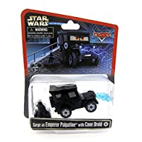 Disney Star Wars Pixar Cars Sarge as Emperor Palpatine with Cone Droid 1/55 Die-Cast Series 3 NEW 2015 Release