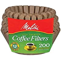 Melitta Basket 咖啡滤光器,自然棕(8 至 12 杯),200 片过滤器 Brown for 8-12 Cup 200 Count (Pack of 2) 62957