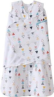 HALO包裹式纯棉3合1婴儿安全睡袋(春夏薄款)多彩三角形 S (3-6个月)