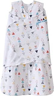 HALO包裹式純棉3合1嬰兒安全睡袋(春夏薄款)多彩三角形 NB(0-3個月)