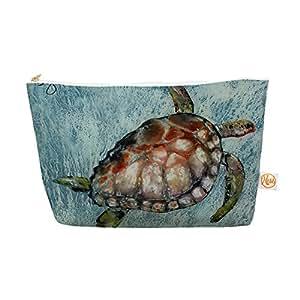 Kess InHouse Home Bound Everything Bag 锥形袋,来自 Josh Serafin,蓝色棕色,31.75 x 17.78 cm (JS2008AEP04)