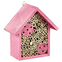 粉红色昆虫酒店家庭小蜜蜂昆虫和昆虫嵌套盒