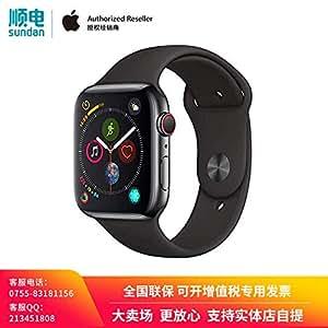 Apple Watch Series 4 MTVU2CH/A 智能手表(GPS+蜂窝网络款 44毫米 深空灰色铝金属表壳 黑色运动型表带)官方授权 全新国行 含税带票 可开专票