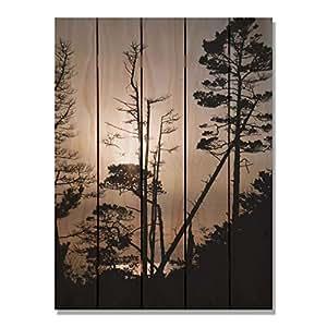Gizaun Art Ocean Forest Inside/外部壁画,全彩雪松 棕褐色 28-Inch by 36-Inch OF2836