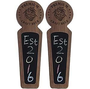 黑板啤*水龙头把手,适用于餐厅、*吧、酿*厂和家庭*器 Set of 2- E-Hops-Walnut Premium Brew