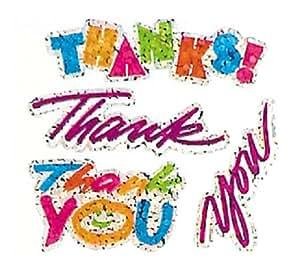 Jillson Roberts Prismatic Stickers, Mini Thank You, Bulk Continuous Roll (BS7134)