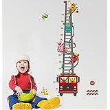 ufengke ® 卡通消防车消防员高图贴花儿童房幼儿园可移除墙贴纸壁画