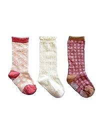 婴儿·儿童用高筒袜3双装 粉色 女孩 简单 9cm - 14 cm