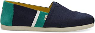 TOMS 男士 Alpargata 3.0 Navy/Green Canvas Color Block 14