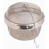 NEW,超大跳跃尺寸,扭锁式香料球茶注入器,不锈钢,超大尺寸(10.16 厘米 x 10.16 厘米) 亮灰色 3.5 Inch HSTB-JMB01