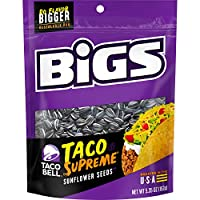 BIGS Taco Bell Taco Supreme Sunflower Seeds, 5.35 Ounce (Pack of 12)