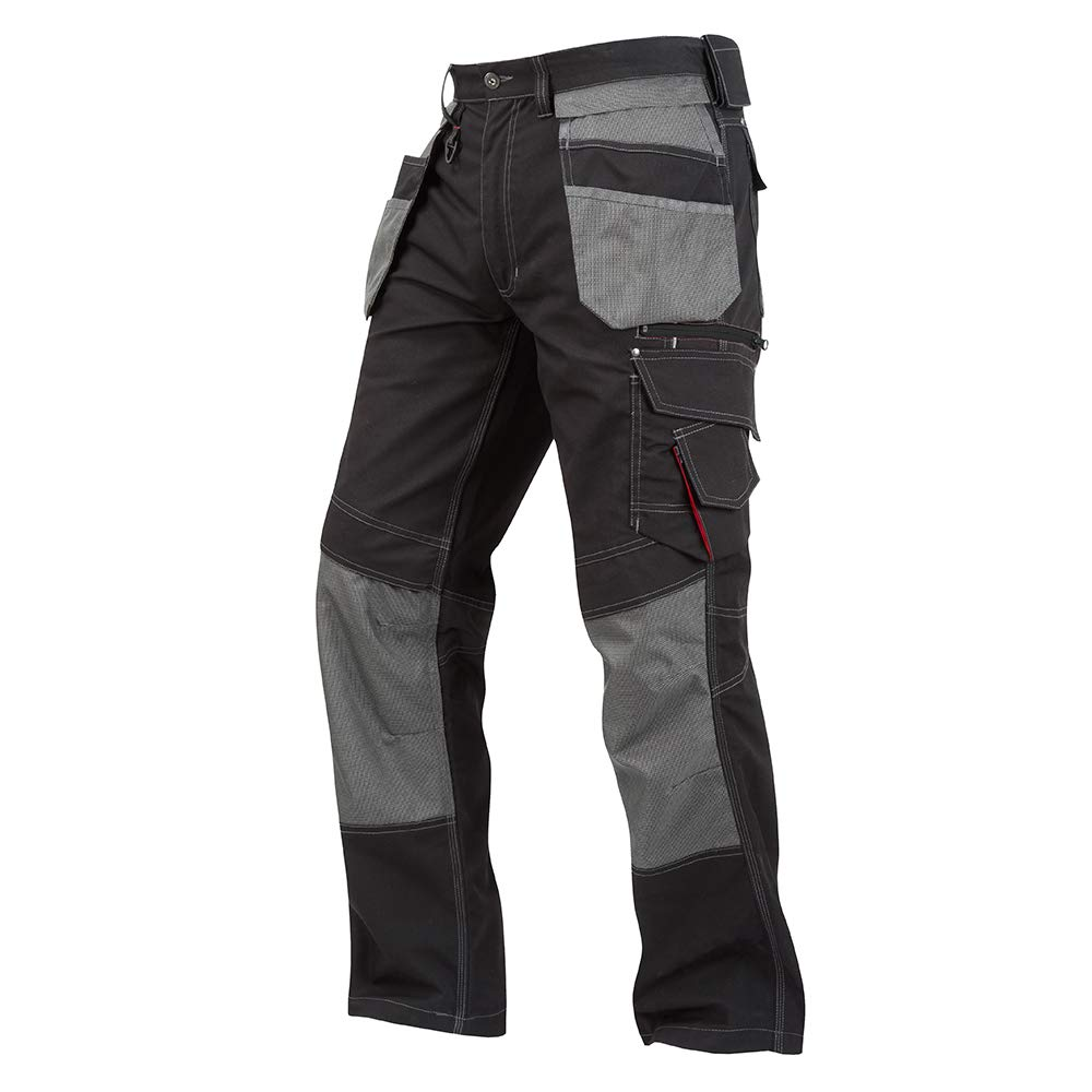 Lee Cooper 男士皮套口袋长工装裤 黑色 42W x 34L LCPNT224 - MULTI POCKET PANT - BLACK - 42L