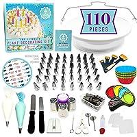 94 件终极蛋糕装饰用品套件,旋转蛋糕装饰转盘式,48 个管道头,管道袋,糕点袋,蛋糕模,冰淇淋,糕点工具,装饰工具