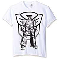 Transformers Boys' Autobots Loogo and Optimus Short Sleeve Coloring Tee