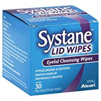 Systane 盖湿巾眼线清洁湿巾 30 片 3片装 90