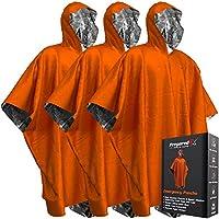 PREPARED4X 急救毯斗篷 - 在露营徒步或任何户外活动时保持干爽和温暖 | 保暖聚酯薄膜空间毯斗篷,让您时刻求生 | 3 件装