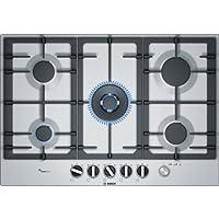 Bosch 博世 serie 6pcq7a5m90 内置式天然气炉灶 瓦斯 gas 不锈钢炉灶–(嵌入式、不锈钢、铸铁、1000W )