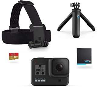 GoPro HERO8 黑色套裝 - 包括短款、頭帶、備用電池和 32GB Micro SD