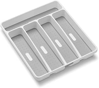 madesmart Classic Small Silverware Tray, White