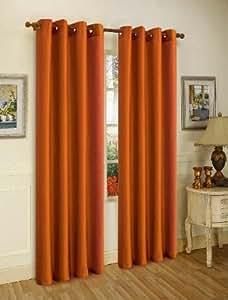 3 件装:窗帘片带索环 - 多种颜色 砖红色 58X84 MIRA