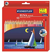 Staedtler 施德楼 LUNA水溶彩色铅笔 48色绘画专用彩铅137 10 C48