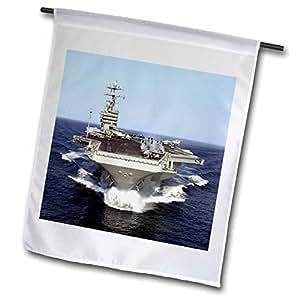 florene 交通工具–THE USS truman naval ship. jpg–旗帜 12 x 18 inch Garden Flag