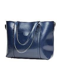 PINGORA 包包 女包 2018 新款真皮女士欧美风格纯色大容量单肩包托特包 大包