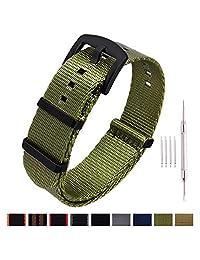 Ritche 北约手表表带厚搭扣 18 毫米 20 毫米 22 毫米高级*带尼龙表带男式女式