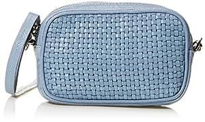 abro 女式 Eleonor系列小号细条编织肩包 027967-38/24 浅蓝色 16 * 4.5 * 10cm (亚马逊进口直采, 德国品牌)