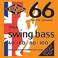Rotosound SM66 Swing Bass 66 不锈钢混合低音吉他弦(40 60 80 100)