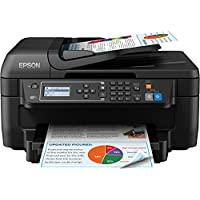 Epson 爱普生WorkForce小巧型四合一打印机 带Wi-Fi和家庭办公室功能 - 黑色