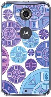Coverfull 紫色 圆盘 图案 (透明) / for Nexus 6/Y! mobile YMRNX6-PCNT-212-M727 YMRNX6-PCNT-212-M727